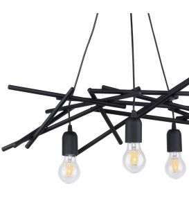 Pakabinamas šviestuvas GLENN 3 Black