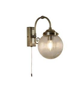 Seinavalgusti BELVUE Antique Brass IP44 3259AB