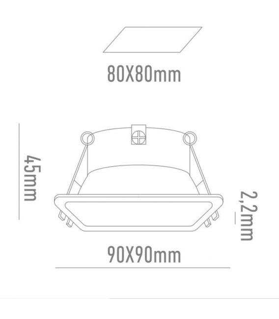 Įmontuojamas šviestuvas TOBIA Slim 51826201