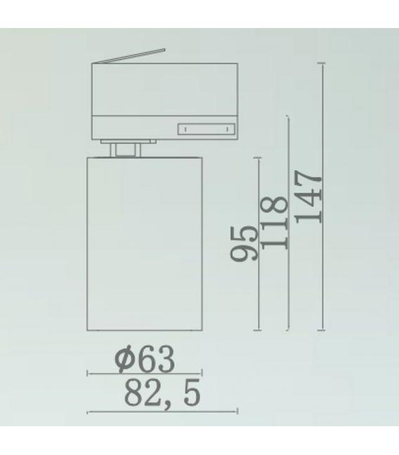 18W LED Įmontuojamas šviestuvas Downlight White LC1481-18W-W