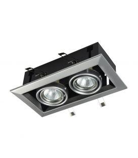 Integreeritav kipsvalgusti METAL MODERN 2 Silver DL008-2-02-S
