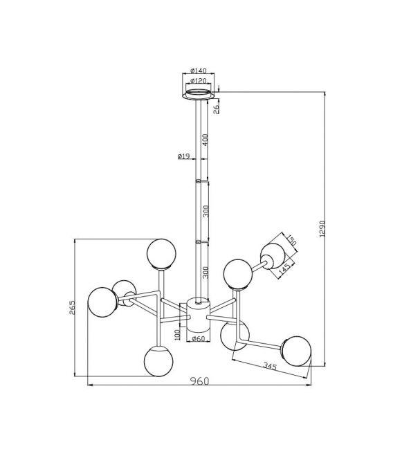Rippvalgusti ERICH 8 MOD221-PL-08-G