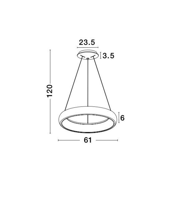 80W LED Pakabinamas šviestuvas Ø81 Black 8105604