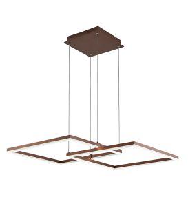 50W LED Rippvalgusti LINUS Brown 4173600