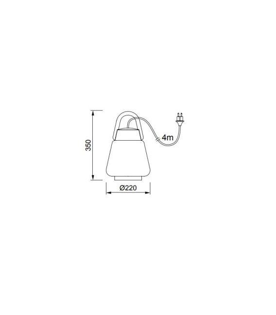 Pakabinamas šviestuvas KINKE White/Gray Ø40 IP65 6217