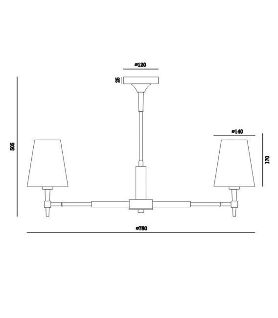 Pakabinamas šviestuvas ZARAGOZA 7 H001CL-07BS