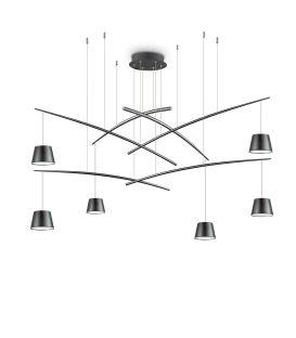 37W LED Rippvalgusti FISH 6 Black 196992