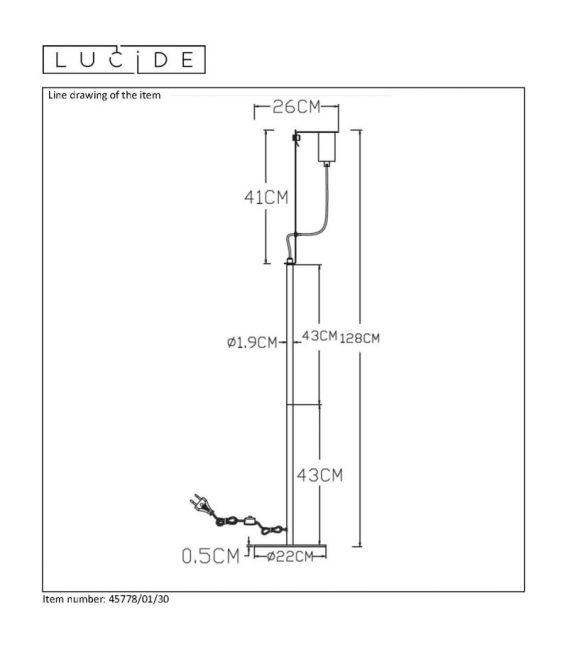 Sieninis šviestuvas MALCOLM 45278/01/30