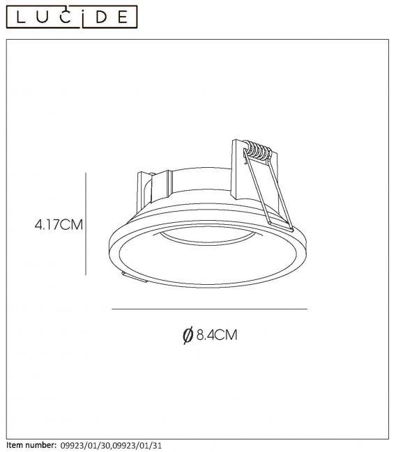 Įmontuojamas šviestuvas ZIVA Black Ø8.4 IP44 09923/01/30