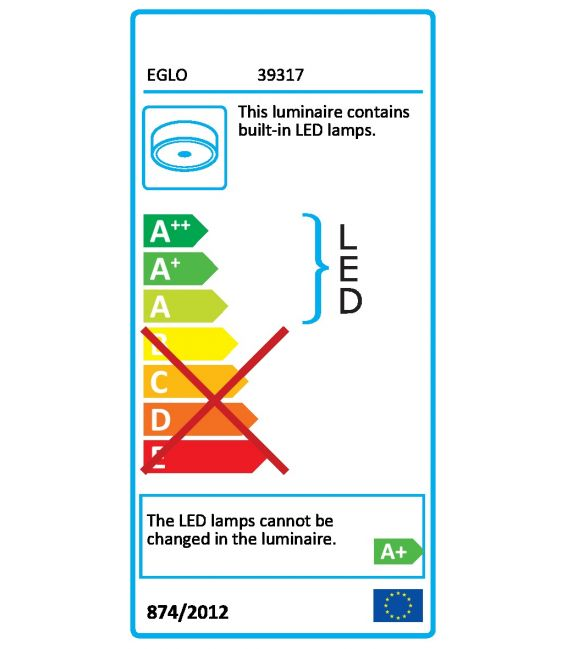 5.4W LED Lubinis šviestuvas VIDAGO 39315