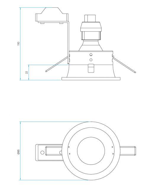Süvistav valgusti MINIMA FIXED 230V A5643