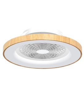 70W LED Ventilaatoriga valgustid TIBET Wood Dimmerdatav 7126