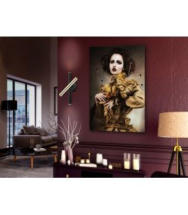 15W LED Seinavalgusti VARAS Black/Gold 373845
