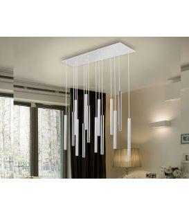 55W LED Rippvalgusti VARAS White/Gold 373342