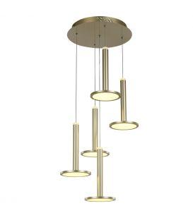 60W LED Rippvalgusti OLIVER Dimmerdatav MD17033012-5A GOLD