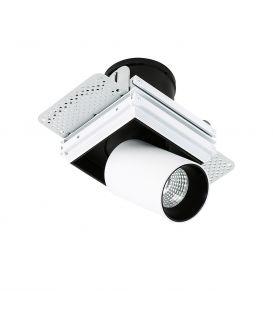24W LED Įmontuojamas šviestuvas NOVUM TRIMLESS GL7119-2/12W 3000K WH+BL