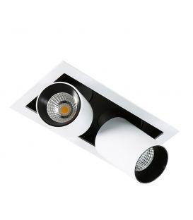 24W LED Integreeritav valgusti MERCANTA GL7117-2/12W 4000K WH+BL