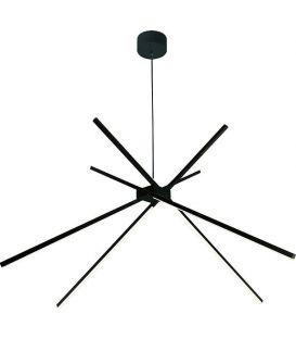 33W LED Rippvalgusti SPIDER Black P0412