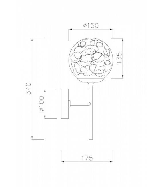 Sieninis šviestuvas Ligero MOD061WL-01BS