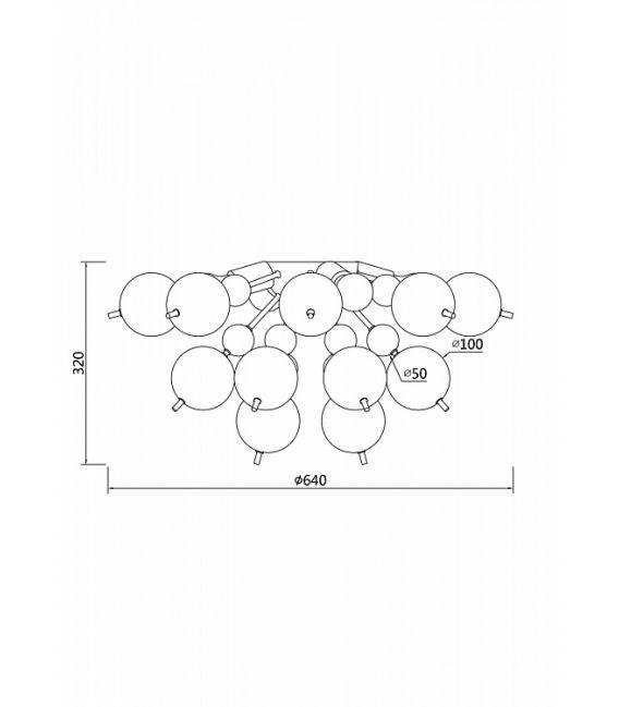 Lubinis šviestuvas Bolla MOD133CL-04BS