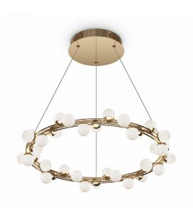 55W LED Rippvalgusti Tessara Gold Ø60 MOD081PL-L50G3K