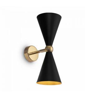 Seinavalgusti Vesper Black with Gold MOD108WL-02GB