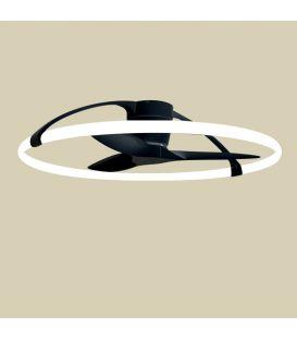 75W LED Ventilaatoriga valgustid NEPAL Black Dimmerdatav 7531