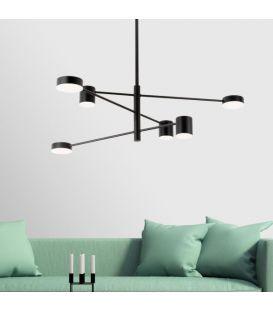 36W LED Rippvalgusti EMMA/6N Black 1928