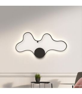 49W LED Seinavalgusti CLARA/MC Black 33205