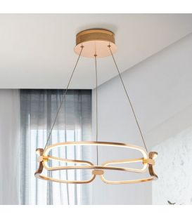 37W LED Rippvalgusti COLETTE Rose gold Ø47 Dimmerdatav 786621