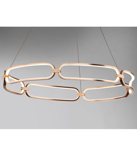 54W LED Pakabinamas šviestuvas COLETTE Rose gold Ø60 786716