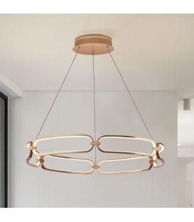 65W LED Rippvalgusti COLETTE Rose gold Ø80 Dimmerdatav 786966