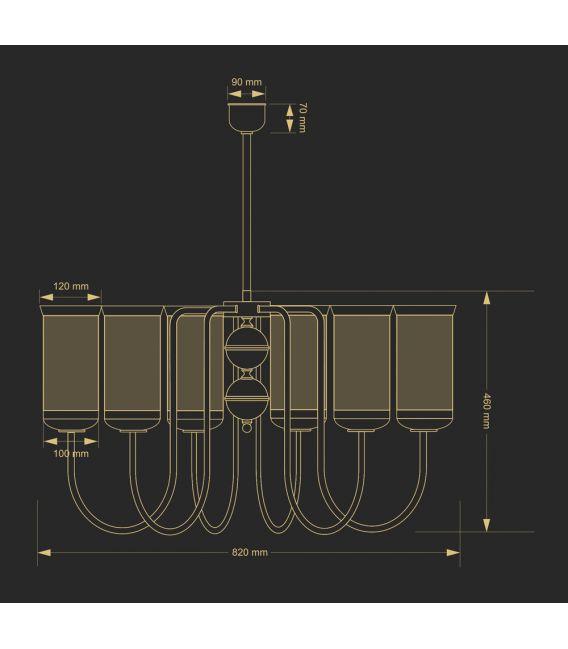 Sieninis šviestuvas OLZANO OLZ-KD-1(P)
